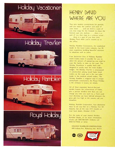 1973 Holiday Travel Trailers #004413