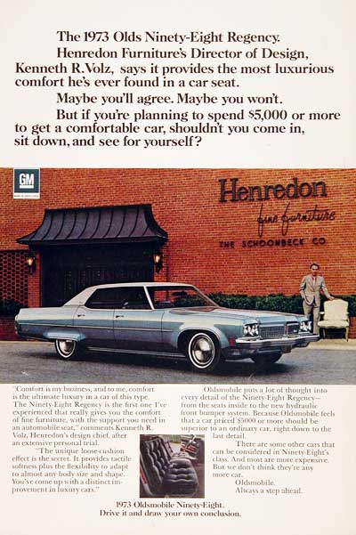 1973 Oldsmobile 98 Regency #003010