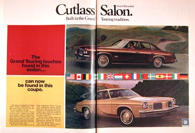1974 oldsmobile cutlass salon classic vintage print ad for 74 cutlass salon