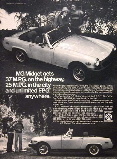 1976 MG Midget Convertible #004516