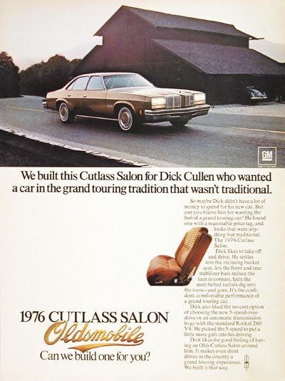 1976 Oldsmobile Cutlass Salon #004528