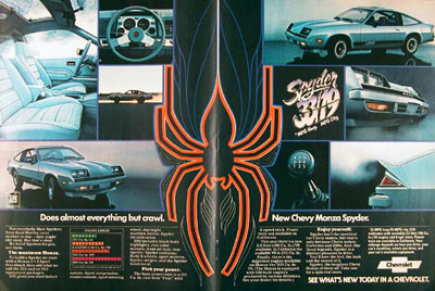 Chevrolet on 1978 Chevrolet Monza Spyder Classic Vintage Print Ad
