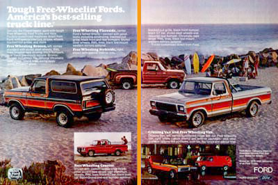 Ford on 1979 Ford Trucks Original Vintage Advertisement  Huge Double Ad