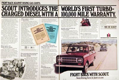 1980 International Scout Diesel 4x4 #005910