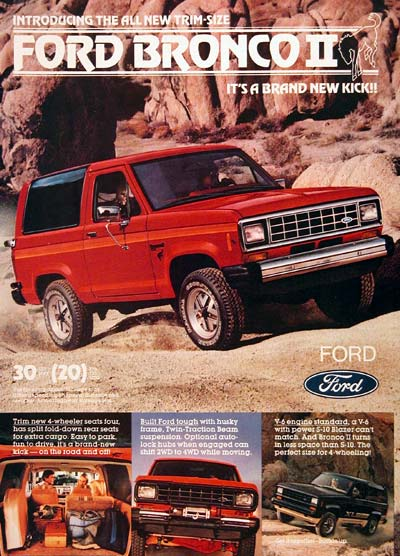 1983 ford bronco ii 4x4 original vintage advertisement built ford