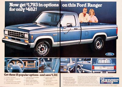 Ford on 1987 Ford Ranger Xlt Pickup Truck Classic Vintage Print Ad