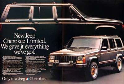 1987 Jeep Cherokee Limited #006216