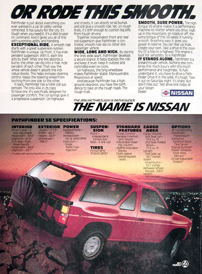 1987 Nissan - Rear View