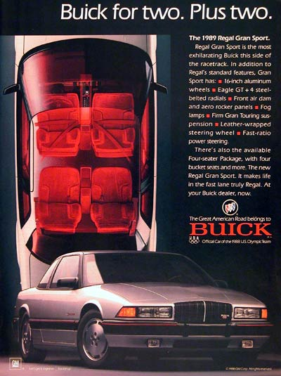 Buick Regal Gsx. 1989 Buick Regal GS
