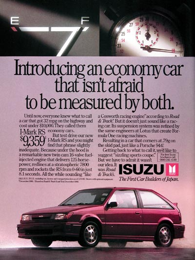 1989 Isuzu I-Mark RS #023933