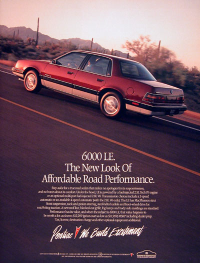 1987 Pontiac 6000 Ste submited images | Pic 2 Fly