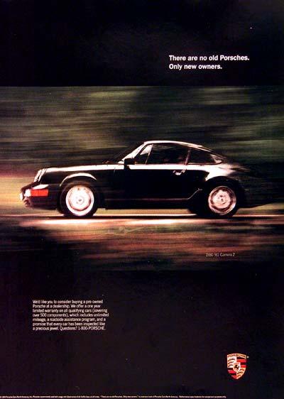 1990 Porsche 911 Carrera Classic Vintage Print Ad