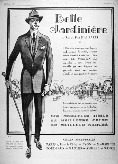 Mens Fashions  on 1925 Paris Men S Fashion Classic Vintage Print Ad