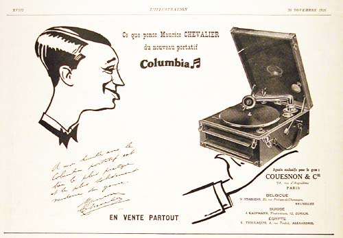 1926 Columbia Phonograph Vintage French Ad