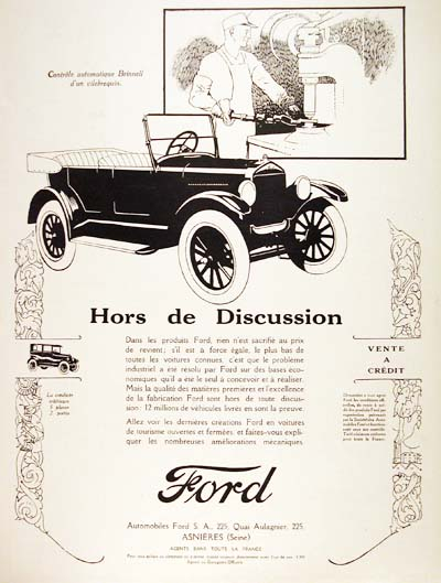 1926 Ford Model T Vintage French Ad #000190
