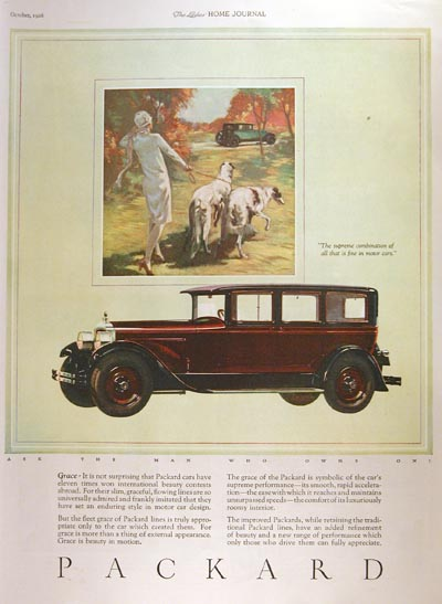 1926 Packard Sedan Vintage Ad