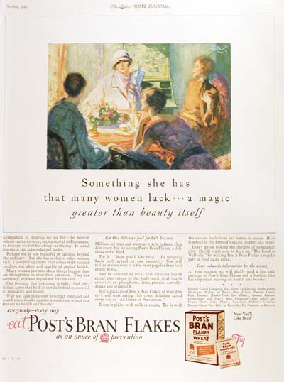 1926 Post Bran Flakes Vintage Ad #000180