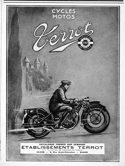 1928 Terrot Motorcycles Vintage French Ad #000223