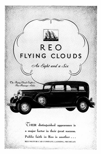 1931 REO Flying Cloud Vintage Ad