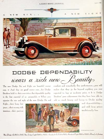 1931 Dodge Coupe Vintage Ad #000346