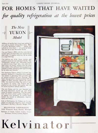 1931 Kelvinator Refrigerator Vintage Ad 000345