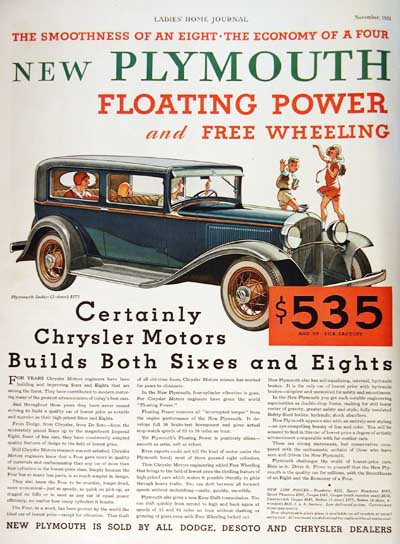 1932 Plymouth 2-Door Sedan Vintage Ad #000347