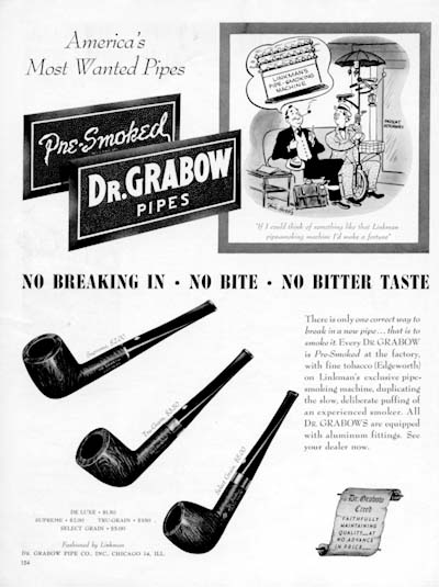 1946 Dr. Grabow Pipes Classic Ad #000422