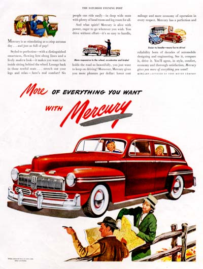 1947 Mercury Sedan Vintage Ad  #000452