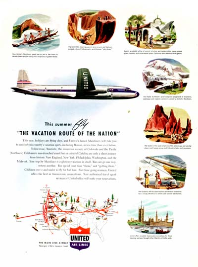 1947 United Airlines Classic Ad #000460