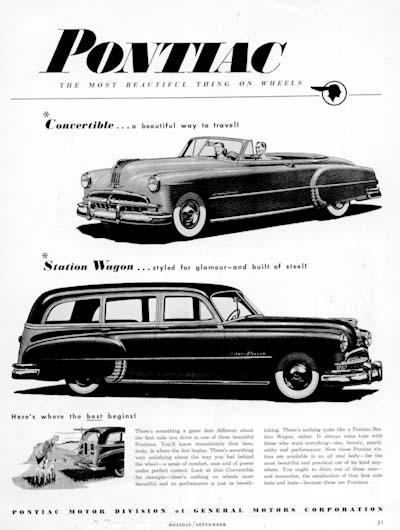 1949 pontiac silver streak classic vintage print ad