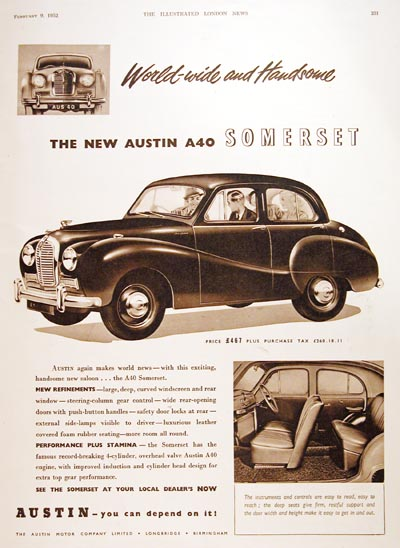 1952 Austin Somerset A40 Sedan