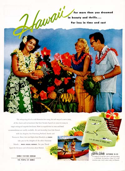 1954 Hawaii Tourism #000601