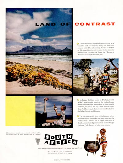 1956 South Africa Tourism