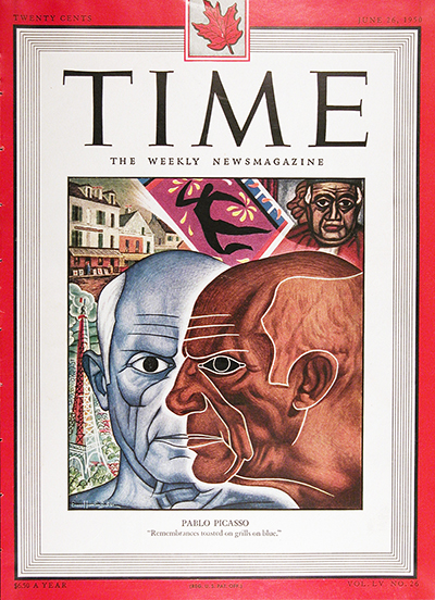 1950 CDN Time Magazine Cover ~ Pablo Picasso #025529