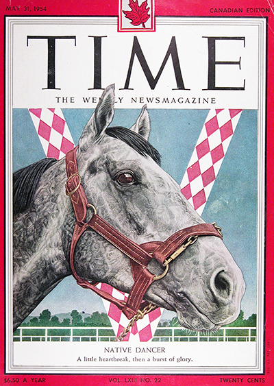 1954 Time Magazine Cover ~ Native Dancer #025575