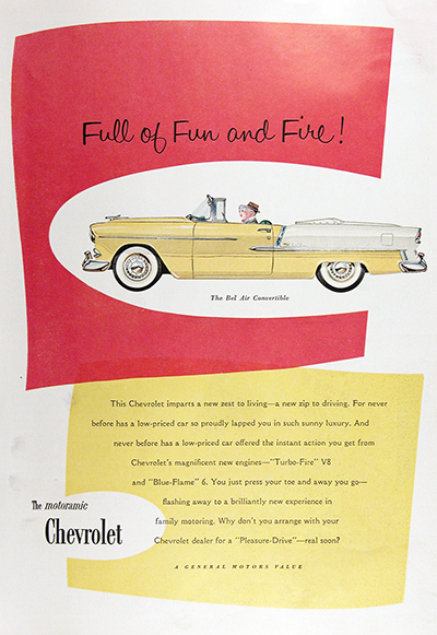 1955 Chevrolet Bel Air Convertible Vintage Ad #025582