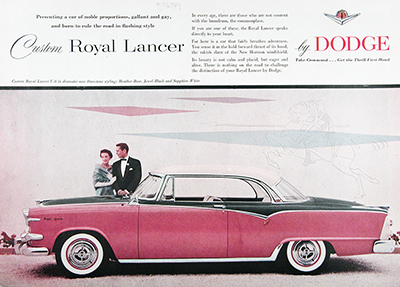 1955 Dodge Royal Lancer V8 Vintage Ad #025592