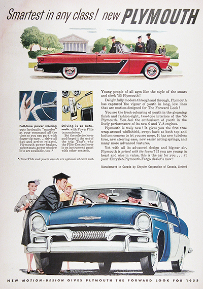 1955 Plymouth Belvedere Convertible & Coupe Vintage Ad #025597