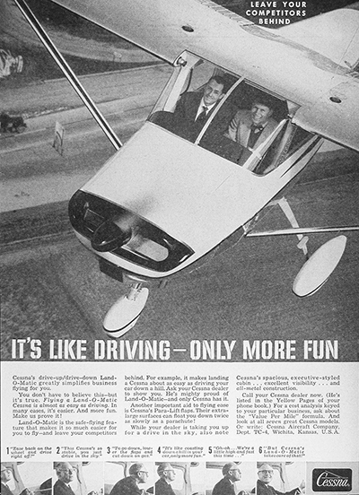 1959 Cessna Land-O-Matic Vintage Ad #025917