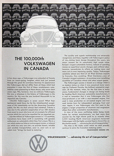 1959 Volkswagen 100,000th Sold Vintage Ad #025695