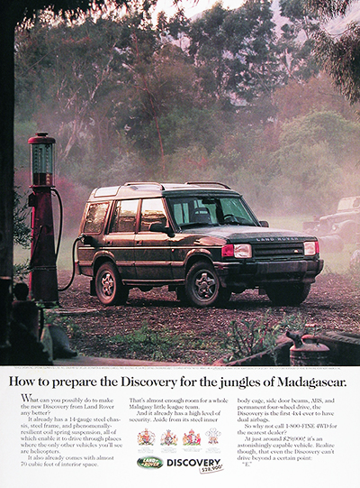 1995 Land Rover Discovery Vintage Ad #025952