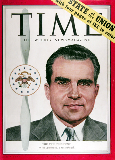1954 Time Magazine Cover - Richard Nixon #025409
