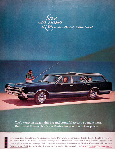 1966 Olds Vista Cruiser Station Wagon Vintage Ad #010556