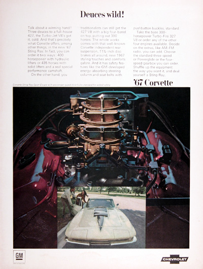 1967 Chevrolet Corvette Sting Ray Vintage Ad #025442