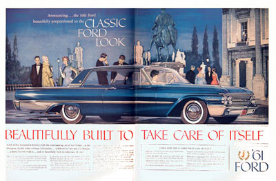 Car Search Usa >> 1961 Ford Galaxie Coupe Classic Vintage Print Ad